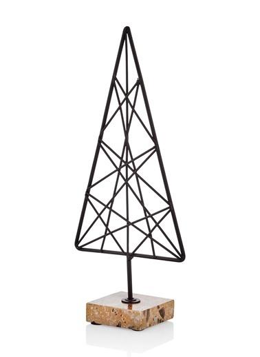 The Mia Üçgen Dekoratif Ürün 9.8x4x22.5 Cm Siyah
